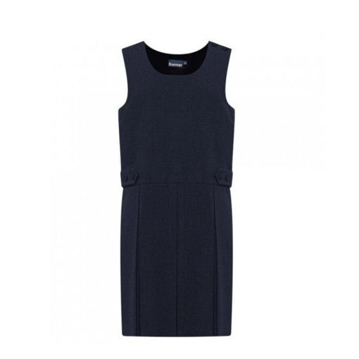 Picture of Junior Box Pleat Pinafore Navy