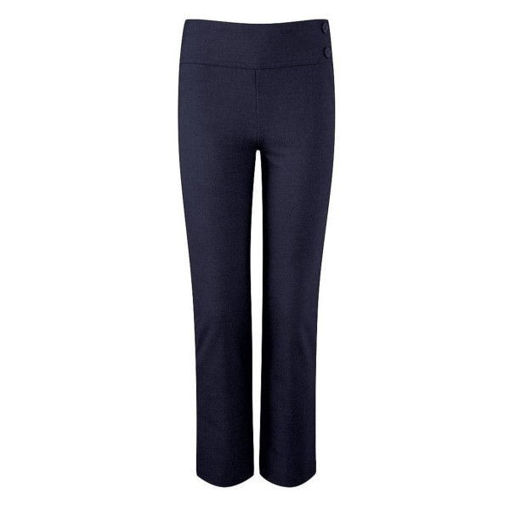 Picture of Girls Junior Deep Waistband Navy Trousers