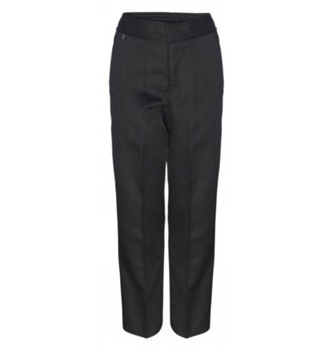 Picture of Boys Charcoal Slim Fit Trousers