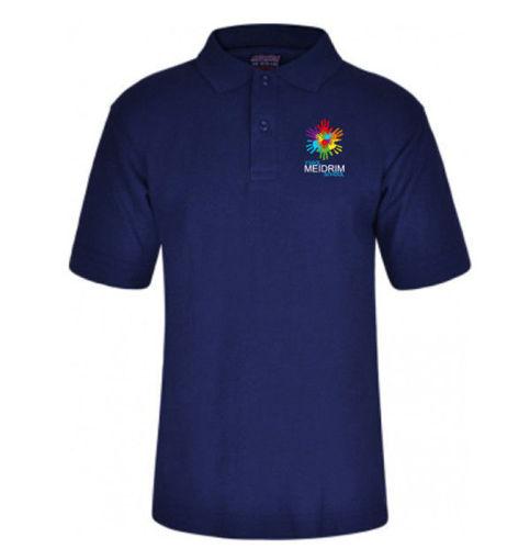 Picture of Meidrim School Navy Polo Shirt