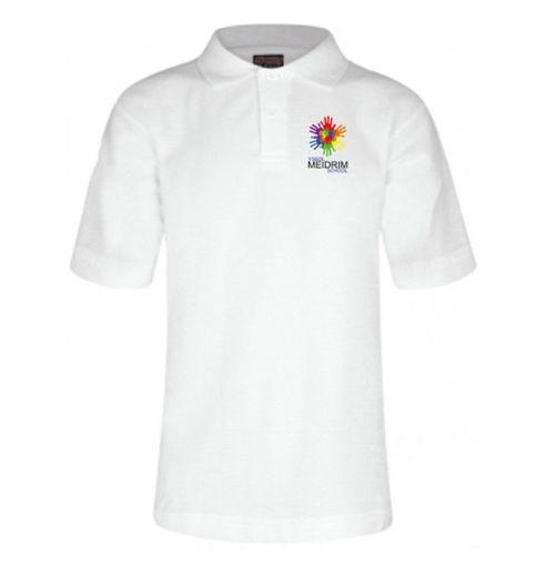 Picture of Meidrim School White Polo Shirt