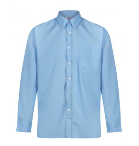 Picture of Trutex Twin Pack Of Easycare Blue Shirts