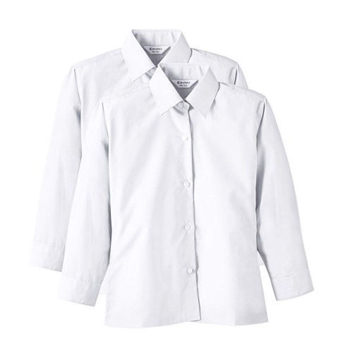 Picture of Trutex Twin Pack Of White Blouses