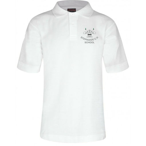 Picture of Stepaside School White Polo Shirt