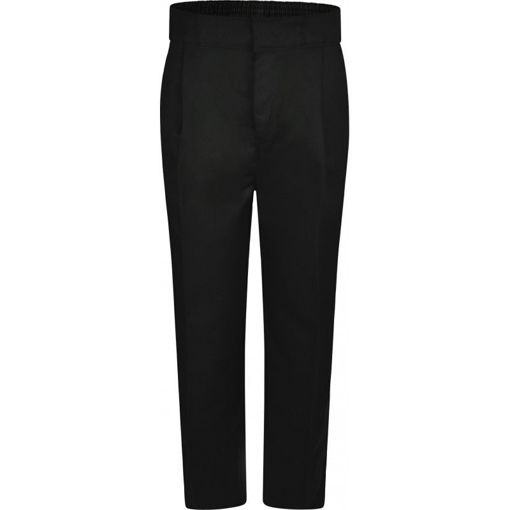 Picture of Standard Fit Boys Black Trousers