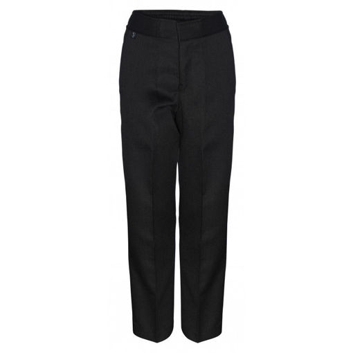 Picture of Boys Black Slim Fit Trousers