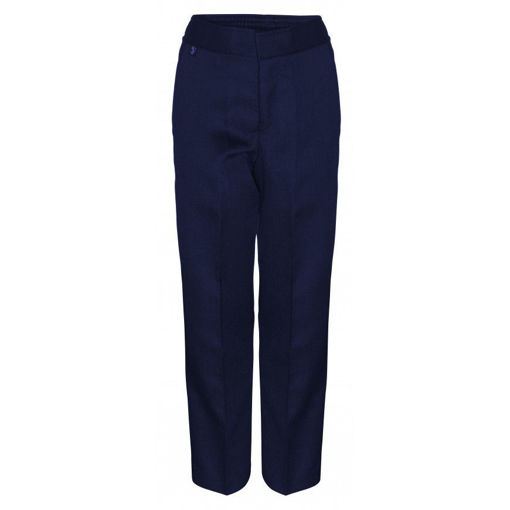 Picture of Boys Navy Slim Fit Trousers