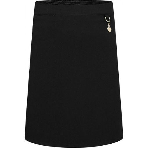 Picture of Black Stretch Heart Junior Skirt