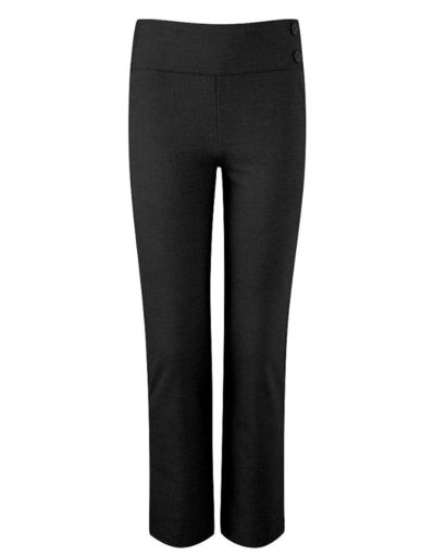 Picture of Girls Junior Deep Waistband Black Trousers