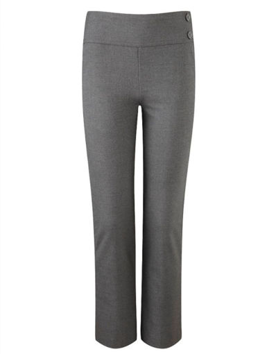 Picture of Girls Junior Deep Waistband Grey Trousers
