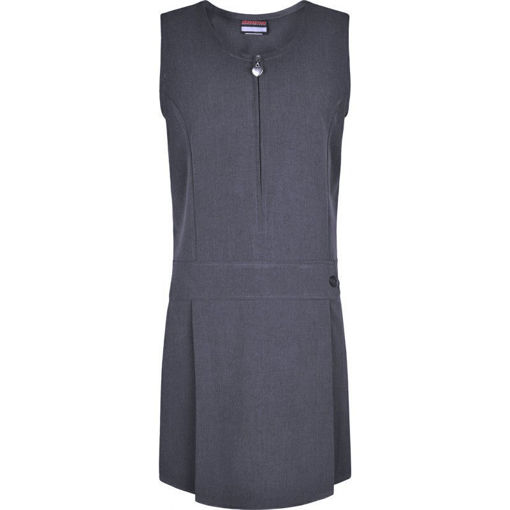 Picture of Junior Heart Stretch Pinafore - Grey