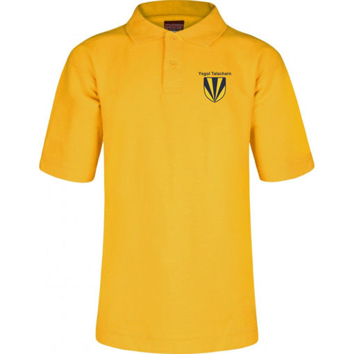 Picture of Laugharne School Polo Shirt - Yellow