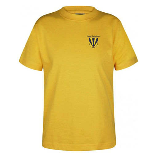 Picture of Laugharne School Cotton T-Shirt - Yellow